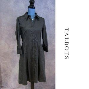 Talbots Polka Dot Fit & Flare Dress w/ Pockets 6P